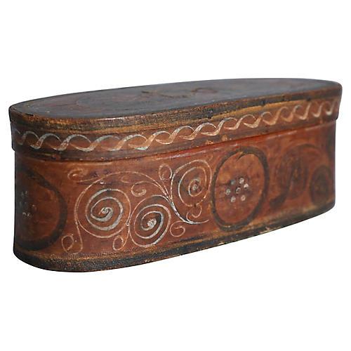 Antique Norwegian Tine Bentwood Box