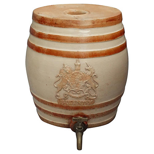 19th-C. English Brandy Cask Dispenser
