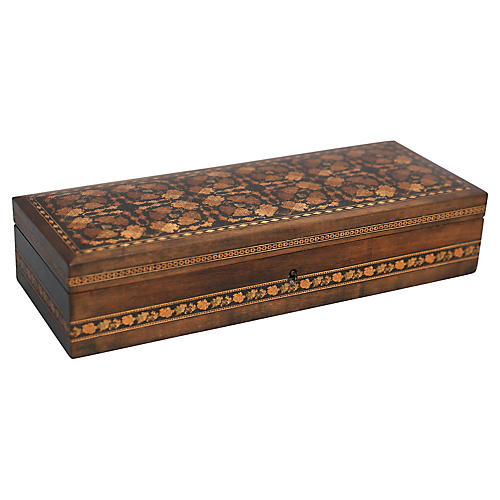 English Tunbridge Pen & Pencil Box