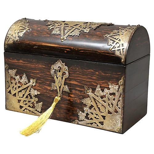 Antique Coromandel Box, Lock & Key
