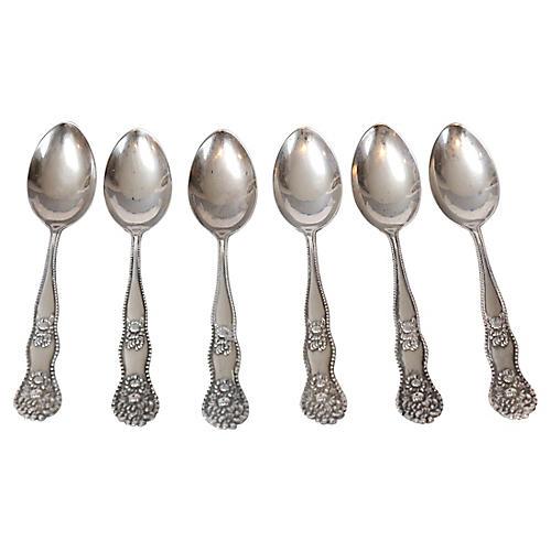 Sterling Silver Demitasse Spoons, S/6