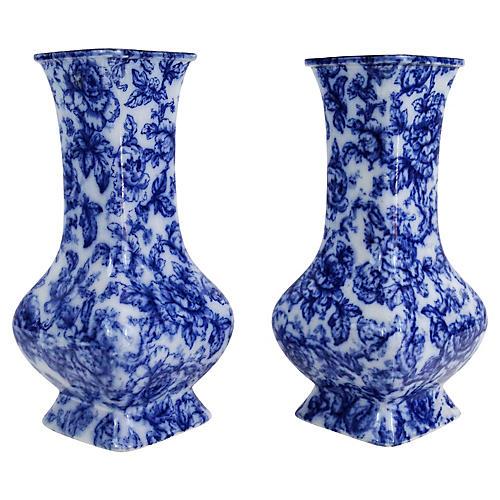 Antique Cavendish Vases, S/2