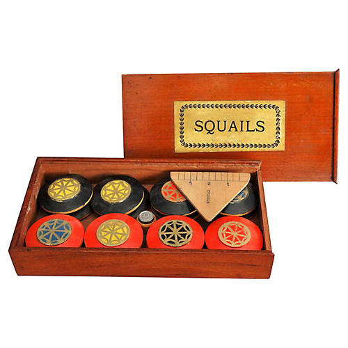 19th-C Rare English Squails Game