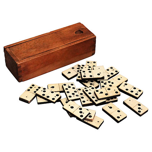 19th-C. English Domino Set
