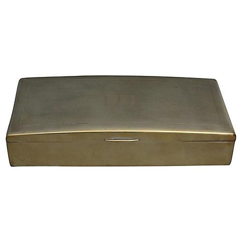 Art Deco Brass Table Box
