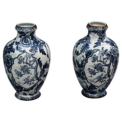 C. 1900 Royal Bonn Vases, Pair
