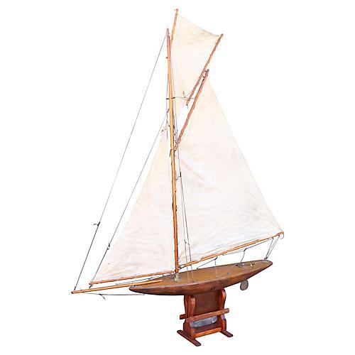 19th-C. English Pond Yacht