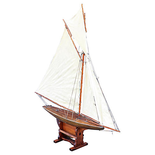 Antique English Pond Yacht Cutter