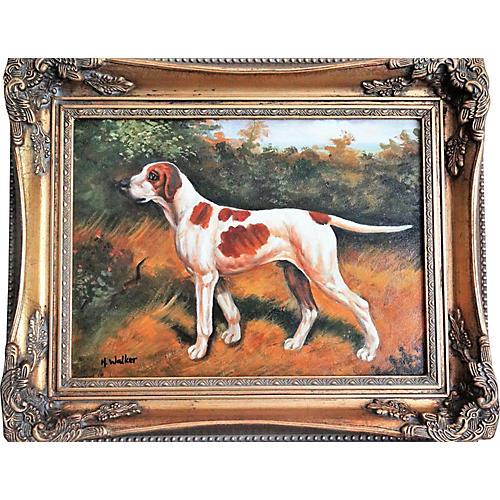 Sporting Dog Portrait by H. Walker