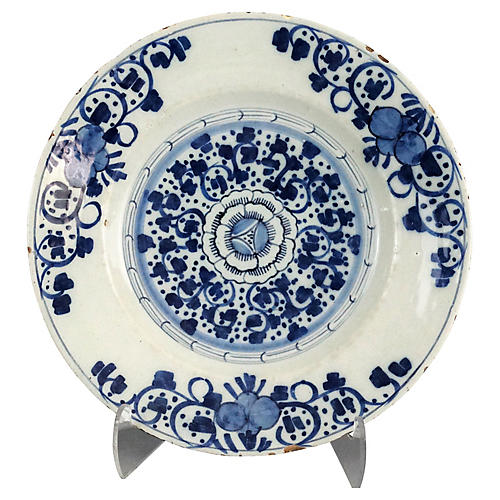 Antique Delft Chinoiserie Plate