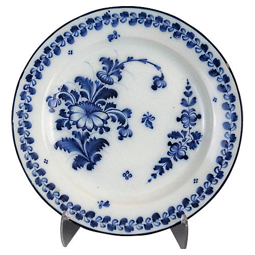Antique Delft Chioiserie Plate