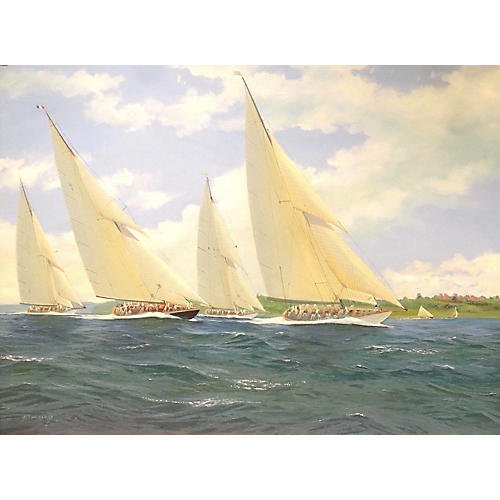 Racing Off Norris Castle by M. Whitehand