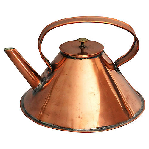 English Ship's Nautical Copper Kettle