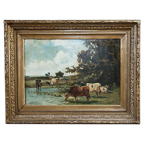 19th-C. Cattle Landscape