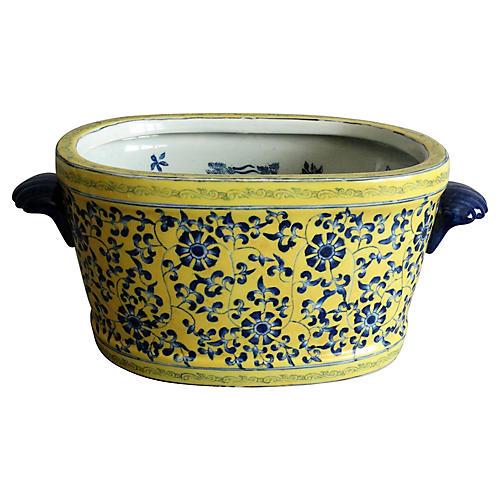 Porcelain Foot Bath with Koi Fish
