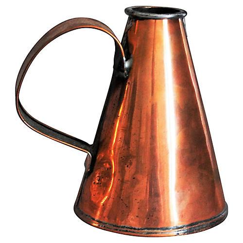 English Copper Pint Tavern Ale Jug