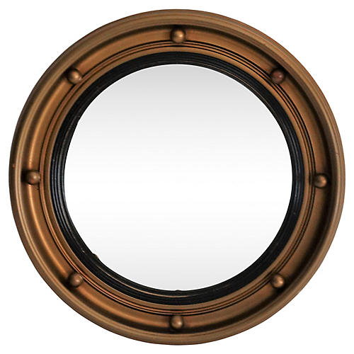 Art Deco Convex Bullseye Mirror