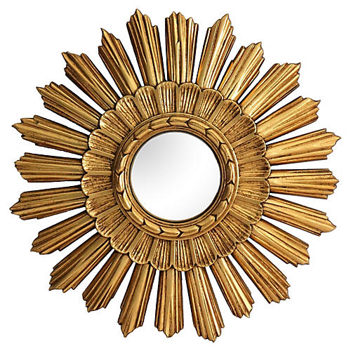 Continental Convex Sunburst Mirror