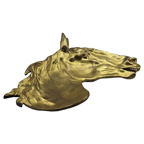 Equestrian Gilt-Bronze Catchall