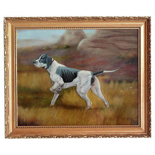 English School Sporting Dog Painting