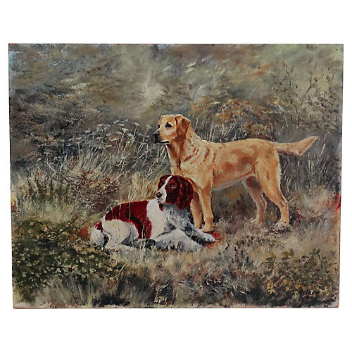 The Dogs English School Painting