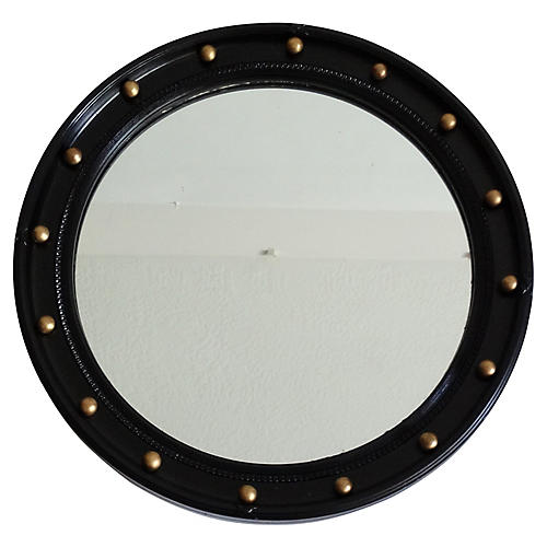 Art Deco English Bullseye Mirror