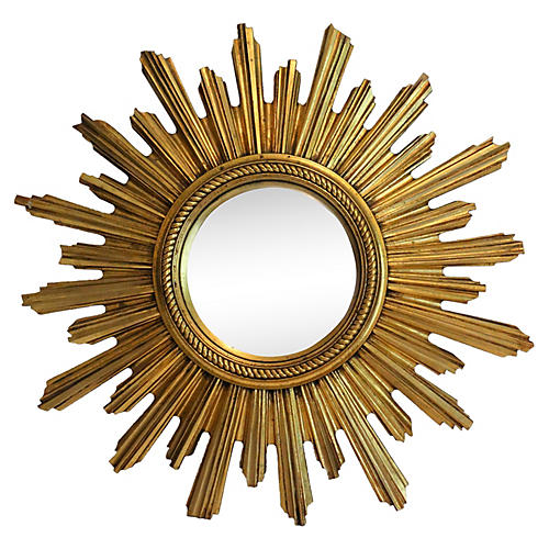 Convex Sunburst Gilt Mirror