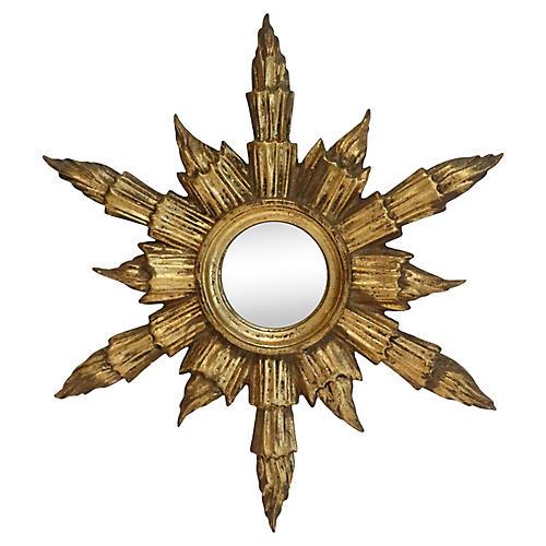 Midcentury Gilt Sunburst Mirror