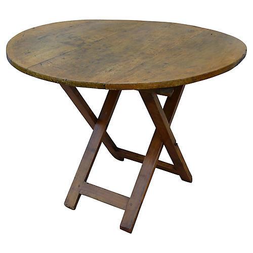 Antique French Pine Vendange Table