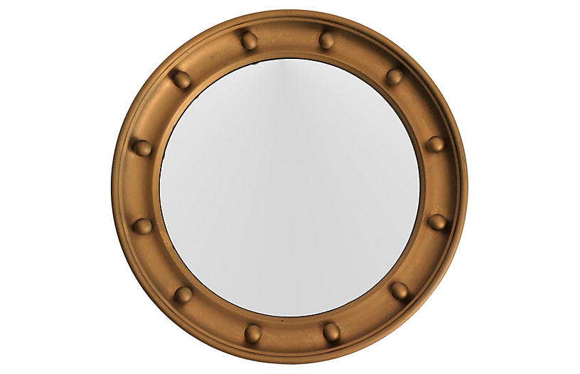 English Convex Round Bullseye Mirror