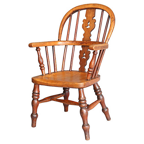Antique Windsor Child's Chair