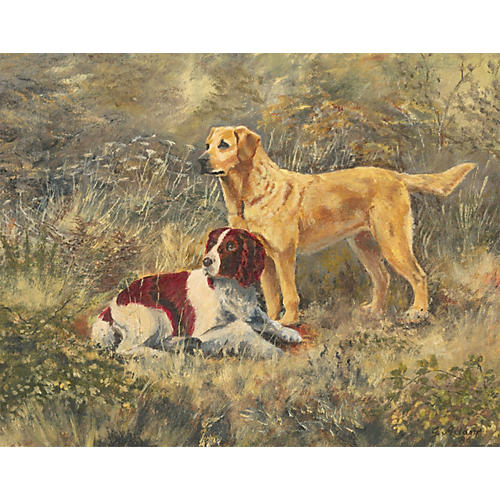 The Dogs English School Painting, Adams