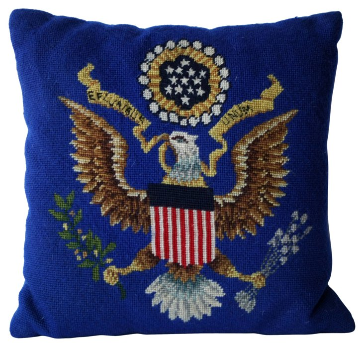 Seal of the US Needlepoint Pillow