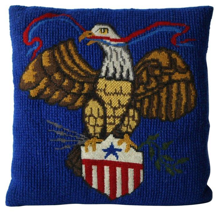 Patriotic Needlepoint Pillow