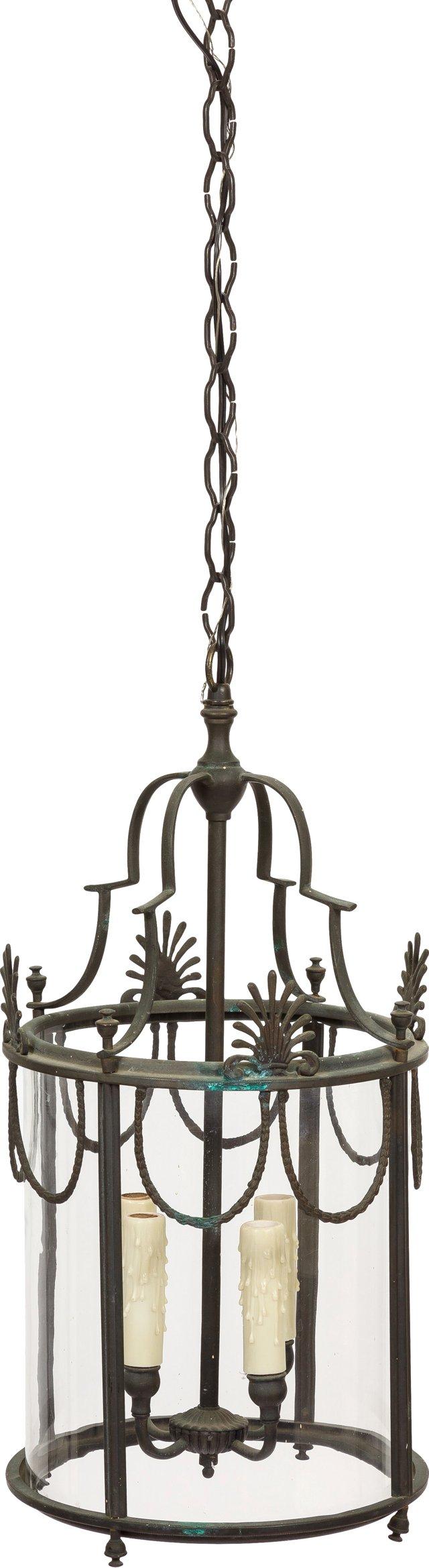 French Steel & Glass Lantern