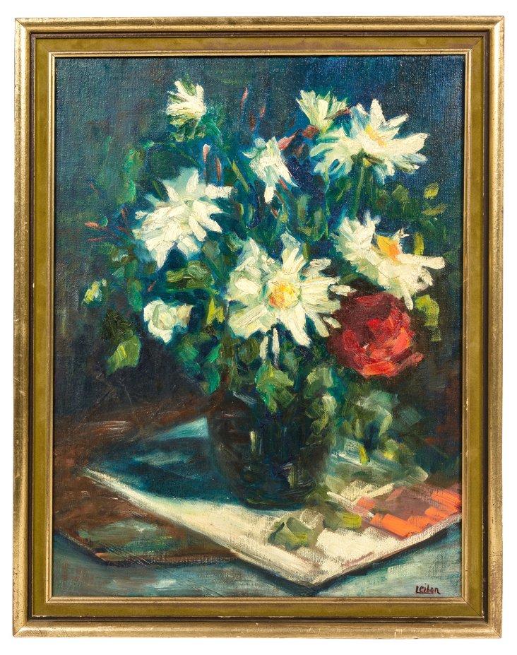 Floral Still Life by Leibon
