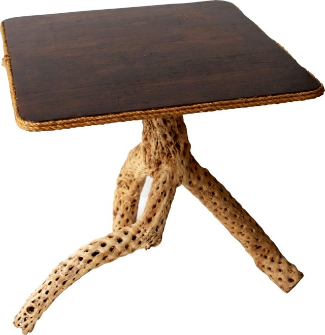 Driftwood & Rope Table
