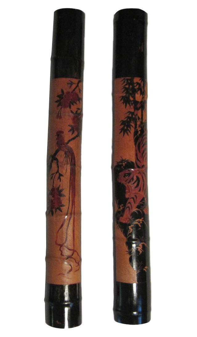 Asian Carved Decorative Panels, Pair