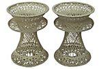 R. Woodard Spun Fiberglass Tables, Pair