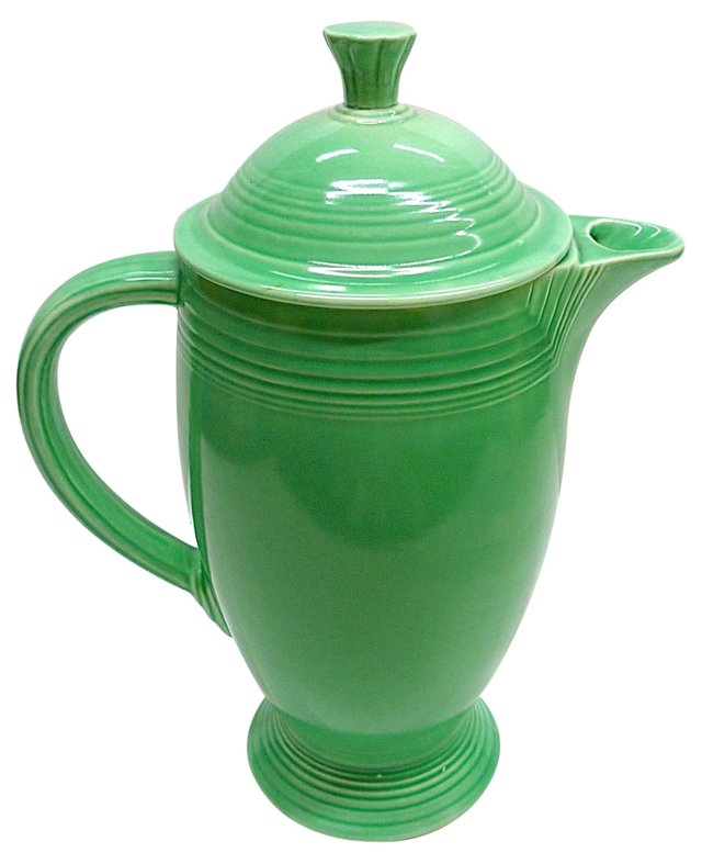 Green Fiesta Coffee Pot