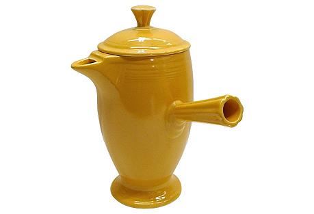 Yellow Fiesta  Demitasse Pot