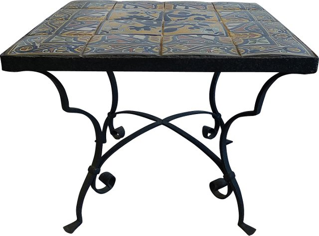Mexican Iron & Tile Table