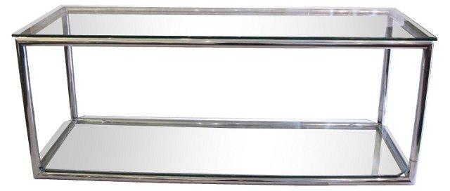 1970s Chrome & Glass  Console