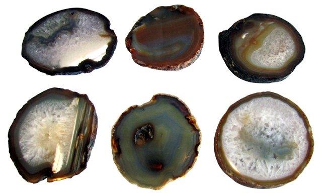 Brown Geode Coasters, Set of 6