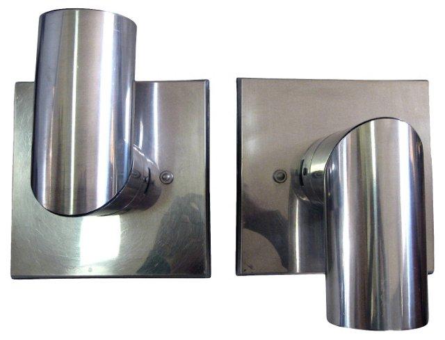 Articulated Aluminum Sconces, Pair