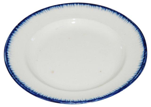 Blue &  White Leeds Plate