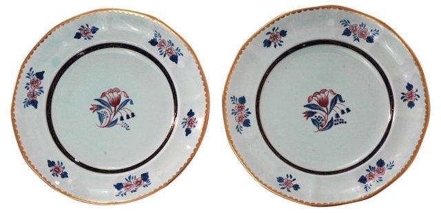 English Calyx Plates, Pair