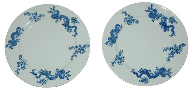 Dragon Plates, Pair