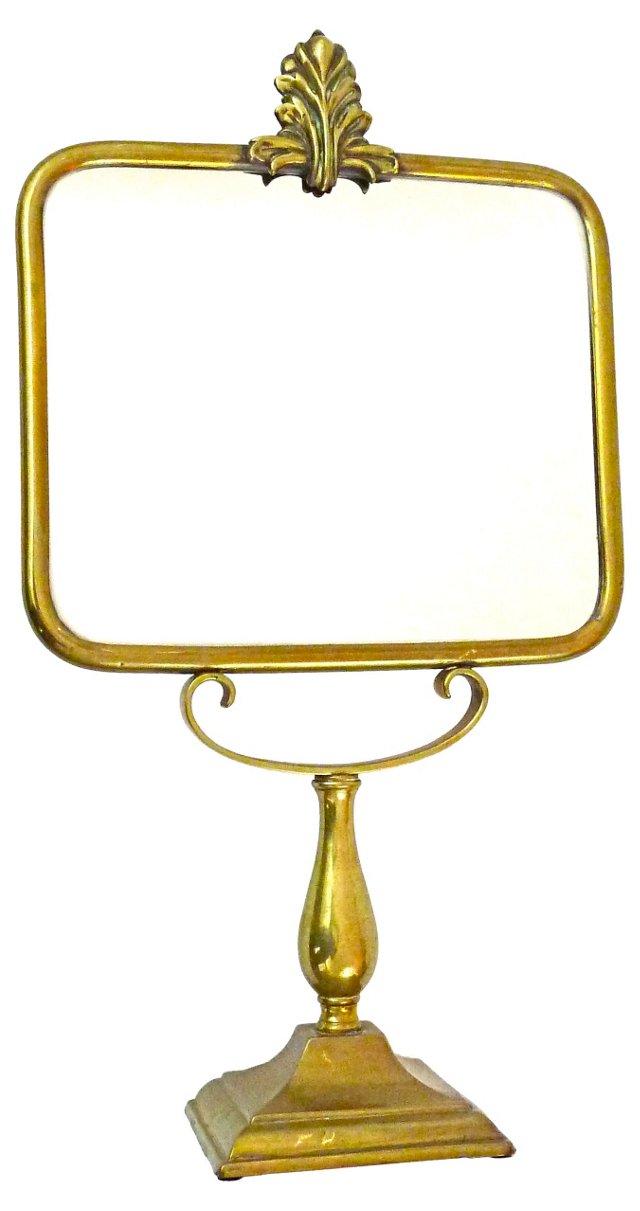 Brass Pedestal Mirror