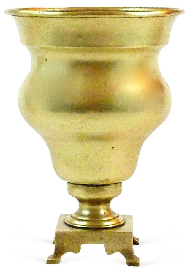 Brass Footed Urn